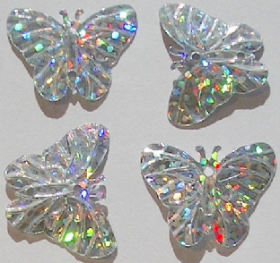 DISCONTINUED  Value Pack  22mm Hologram Silver Butterfly Sequins x 500 BUY 1 GET 1 FREE